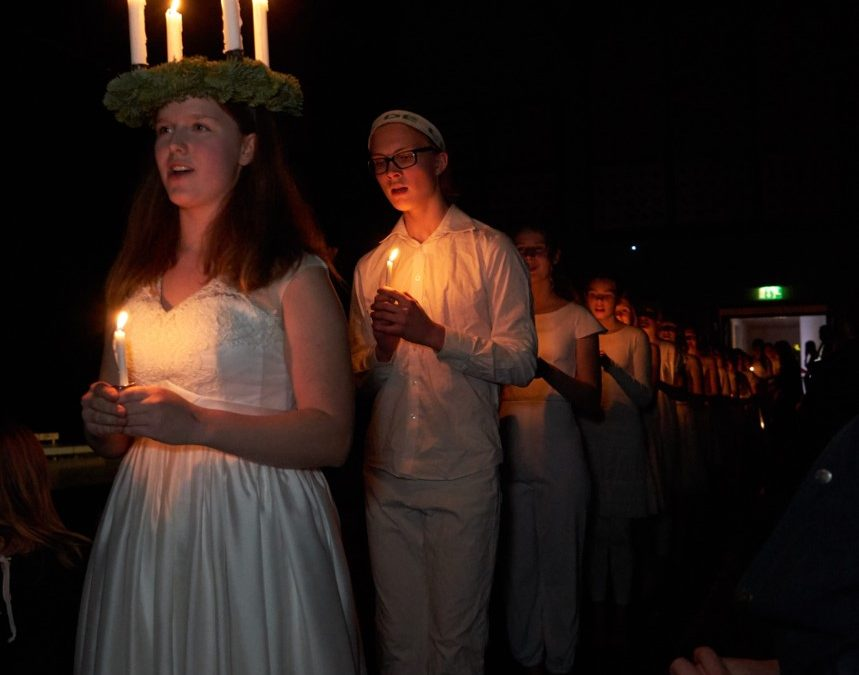 Billeder fra Luciafesten den 9. december i Skanderborg Kulturhus